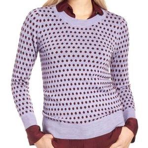 J. Crew Lavender Tippi Sweater in Jacquard Dot